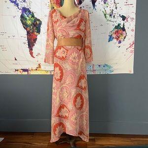 Vintage paisley maxi dress 70's Very free people